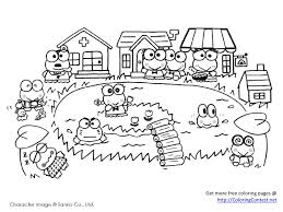 Small Picture Free Sanrio Coloring Pages