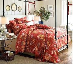 dark red fl bedding sets luxury set cotton sheets king queen size quilt duvet cover bed