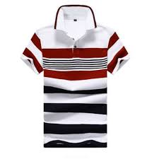 <b>Fashion Men's</b> Cotton <b>Casual Short</b>-<b>sleeved</b> T-shirt POLO Shirt -Red ...