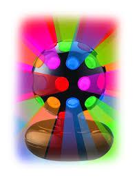 creative motion 6 rotating disco ball light with multi colors com