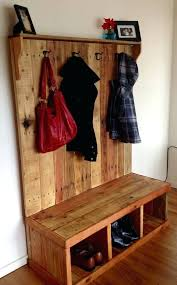 Wooden Coat Rack With Bench Wood Hall Tree Smartonlinewebsites 64