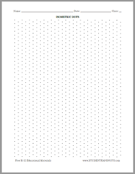 Isometric Dots Graph Paper Free To Print Isometric Paper