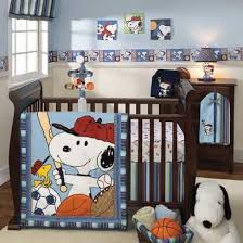 snoopy sports baby crib bedding snoopy