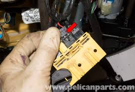 bmw z4 m front seat belt buckle replacement 2003 2006 pelican E46 Seat Belt Pretensioner Wiring Harness slide the seat belt buckle connector out of the main seat connector (red arrow) Seat Belt Pretensioner Parts