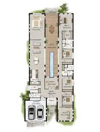 modern narrow block house designs floor plan four