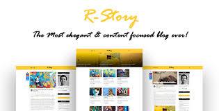 Resume Html Template Wonderful Cool RStory Inventive Individual Weblog HTML Template