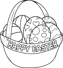 Happy Easter Coloring Page Refinancemortgageratesco