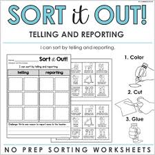 Telling Vs Tattling Worksheets Teaching Resources Tpt
