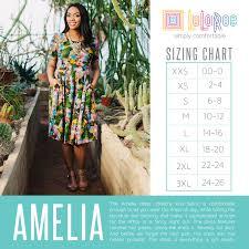 Lularoe Amelia Dress Sizing Chart Pleated At The Waist And
