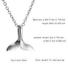 Necklace Width Chart Wholesale 2019 Mens Women Fashion Hip Hop Whale Single Tail Titanium Steel Necklace Hanging Ornament 9513d Fashion Jewelry Locket Necklace From