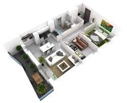 Small 2 Bedroom Floor Plans 25 More 2 Bedroom 3d Floor Plans