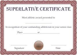 Superlative Certificate Free Superlative Certificate Template Superlative Certificate