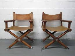 pair of ralph lauren leather director chairs from a unique collection of antique and modern