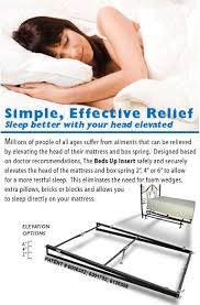 Beds Up Elevating Mattress Insert Safely and Easily elevate your