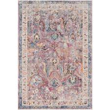 bristol lavender light gray 8 ft x 10 ft area rug