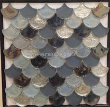 fan shape glass mosaic ceramic tile 2