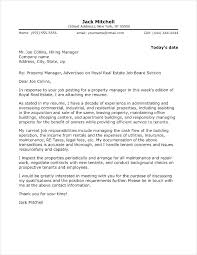 Property Management Cover Letter Executive Cover Letter Template ...
