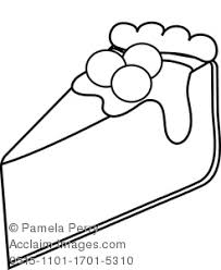 Small Picture Art Illustration of a Cherry Cheesecake Coloring Page