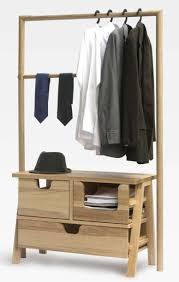 ... Wardrobe Racks, Wood Clothes Rack Wooden Clothing Rack Diy Contemporary  Wooden Clothes Rack With Double ...