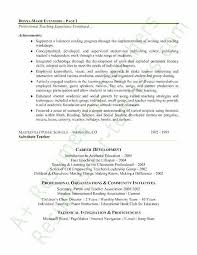 Elementary School Teacher Resume Inspirational Examples Of Teacher