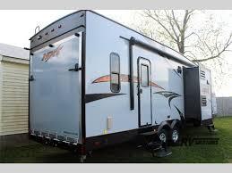 kz rv mxt toy hauler travel trailer rear