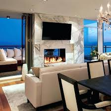 indoor outdoor fireplace australia see thru gas through double sided