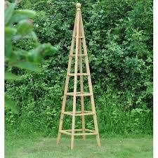 wooden garden obelisk 1 9m climbing