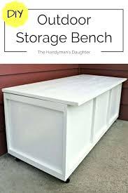 diy outdoor storage box wood bin bench take two
