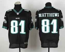 Jersey Black Jordan Matthews Matthews Jordan