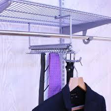 china platinum gliding tie belt rack with valet hook for wire shelf closet china tie rack valet hook