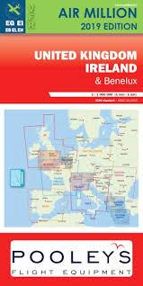 United Kingdom Ireland And Benelux Vfr Chart Uk Ireland And Benelux Air Million 2019 Includes Netherlands Airspace Editerra Vfruk2019