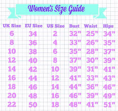 Uk Tops Size Chart Size Guide