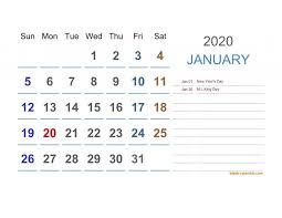 New Printable 2020 2020 Calendar Free Printable Calendar