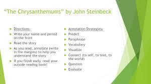 the chrysanthemums rdquo by john steinbeck ppt video online the chrysanthemums by john steinbeck