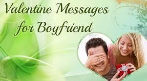 boyfriend valentines day message