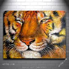 canvas wall art tiger oil painting modern decor hand painted canvas art red picture decor living