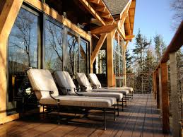 eco friendly diy deck. Rustic Deck Overlooks Mountain View Eco Friendly Diy O