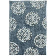 exploded medallions blue woven 8 ft x 10 ft indoor area rug