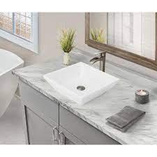 square bathroom ceramic vessel sink
