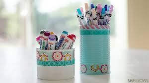 Cute DIY pencil holders help tame school clutter