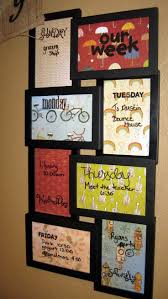 gallery incredible cork board. DIY Weekly Dry-erase Board Using A Collage Frame Found At Walmart! Print Days Of Week Onto Pretty Paper, And Put Different Day Into Each Section (behind Gallery Incredible Cork