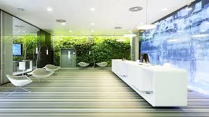 green wall office. Office Lobby Boasts Green Wall