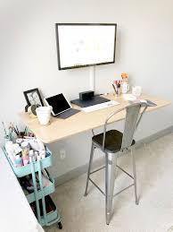 home office standing desk. Home Office DIY Standing Desk N