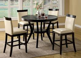 dining room round black tall kitchen table set with rug tall round kitchen table
