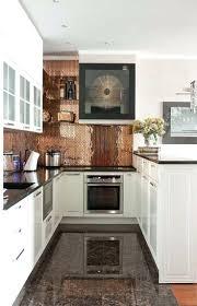 copper glass tile backsplash kitchen ...