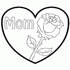 Small Picture Hearts And Roses Coloring Pages Mothers Day a rose and a
