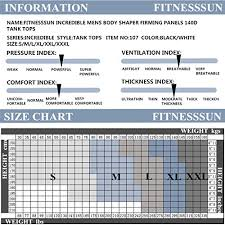 Roc Bodywear Size Chart Fitnesssun Mens Tights Undershirt Compression Base Layer