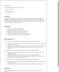 Hr Coordinator Resume Template Best of 24 Hr Coordinator Resume Templates Try Them Now MyPerfectResume