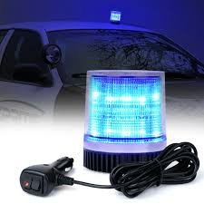 12v Blue Strobe Light Details About Xprite Blue Rotating Beacon Led Strobe Light With Magnetic 12v Emergency Warning