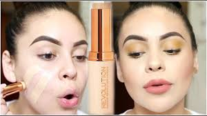 new makeup revolution fast base foundation stick review demo juicyjas